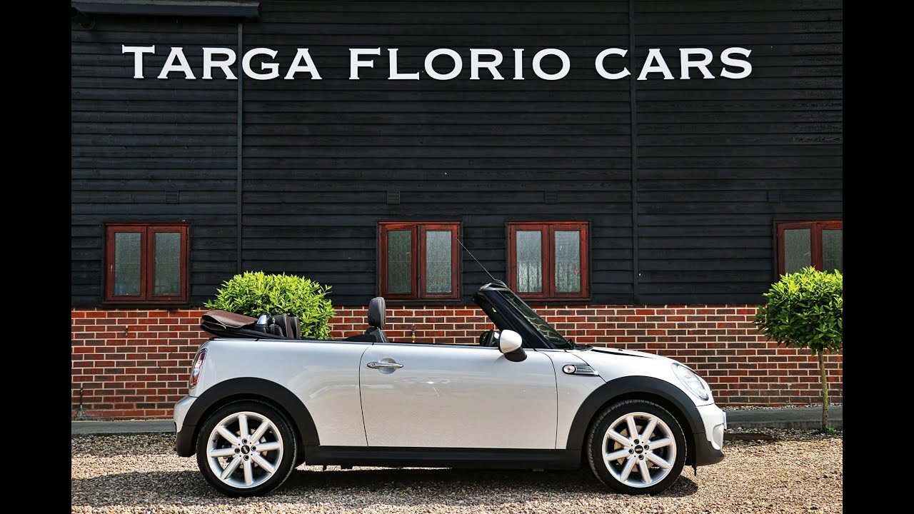 Mini Cooper S Highgate Convertible Automatic In White Silver With