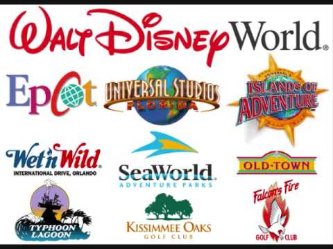 theme park logos youtube