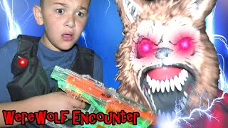 WEREWOLF NERF WAR at NIGHT with UNDERCOVER COPS