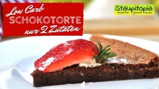 Low Carb Schokokuchen ohne Mehl und Zucker mit nur 2 Zutaten I Schnelles Low Carb Blitzkuchen Rezept