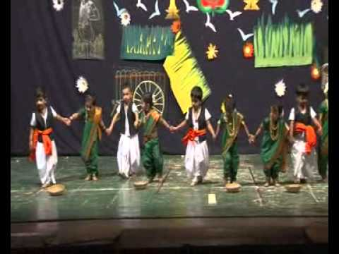 Ananya dance at school annual day function youtube for Annual day stage decoration images