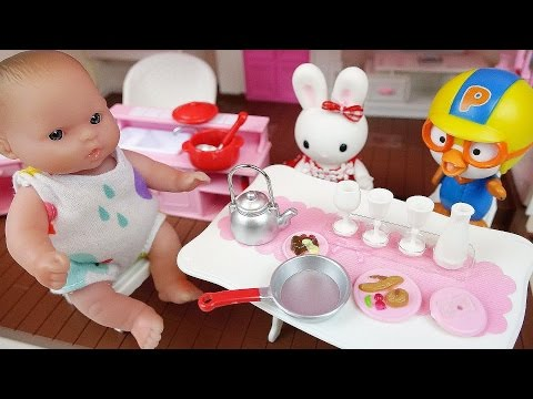 Rabbit kitchen and Baby doll house toys
