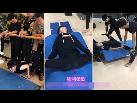 Chinese ballet school boys painful passive flexibility training