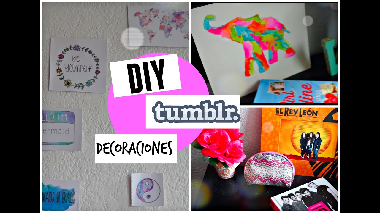 Diy decoraciones para tu habitaci n tumblr youtube for Manualidades para decorar tu cuarto