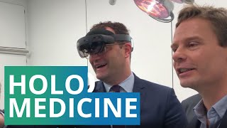 Holomedicine: German federal minister of health Jens Spahn visits the pioneers of holomedicine