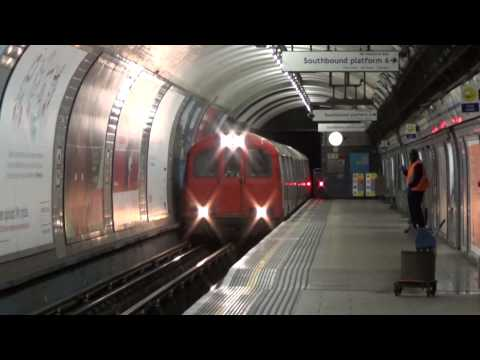 London Underground 1960 Stock L133, TRC666 and L132 passing Highbury & Islington