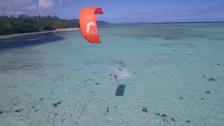 Kitesurfing the Coral Coast in Matanivusi
