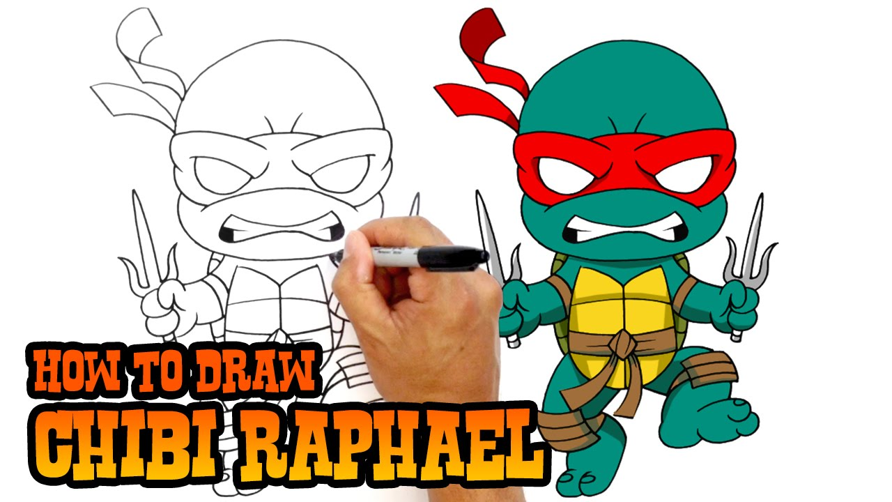 how to draw raphael teenage mutant ninja turtles youtube