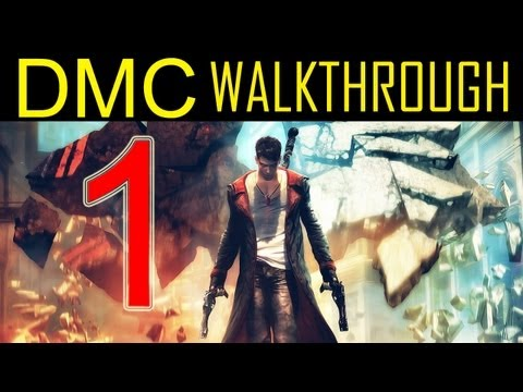 DMC walkthrough - part 1 Devil may cry 5 walkthrough part 1 PS3 XBOX PC HD 2013