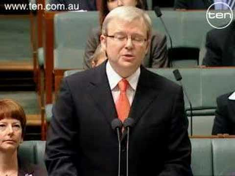 "Sorry, Kevin Rudd's Apology to ""The stolen Generation"""