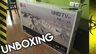 MY NEW TV - UNBOXING REVIEW LG 43UJ635V