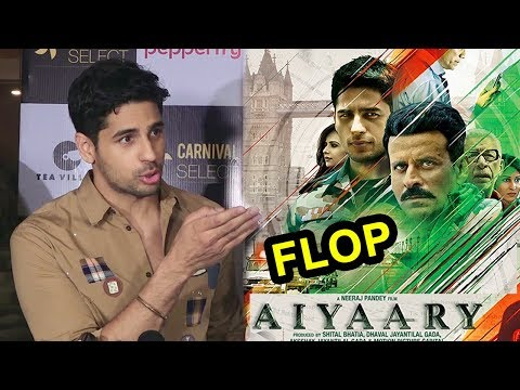 Sidharth Malhotra's Reaction On Aiyaary Declared FLOP At Box Office