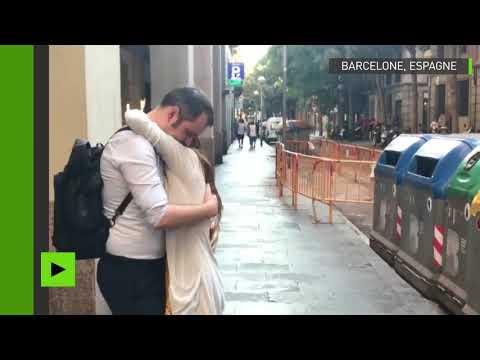 L'avenue de Las Ramblas à Barcelone et ses alentours juste après l'attaque