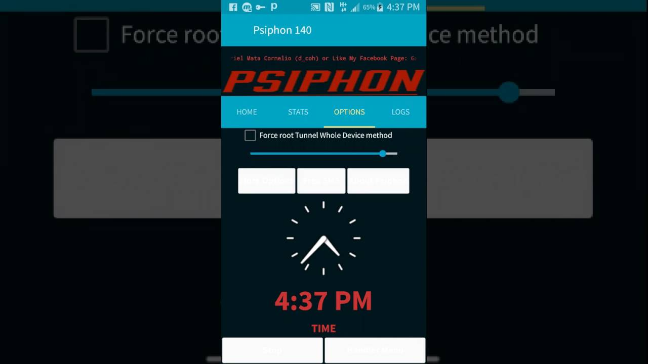 Psiphon pro lite globe setting