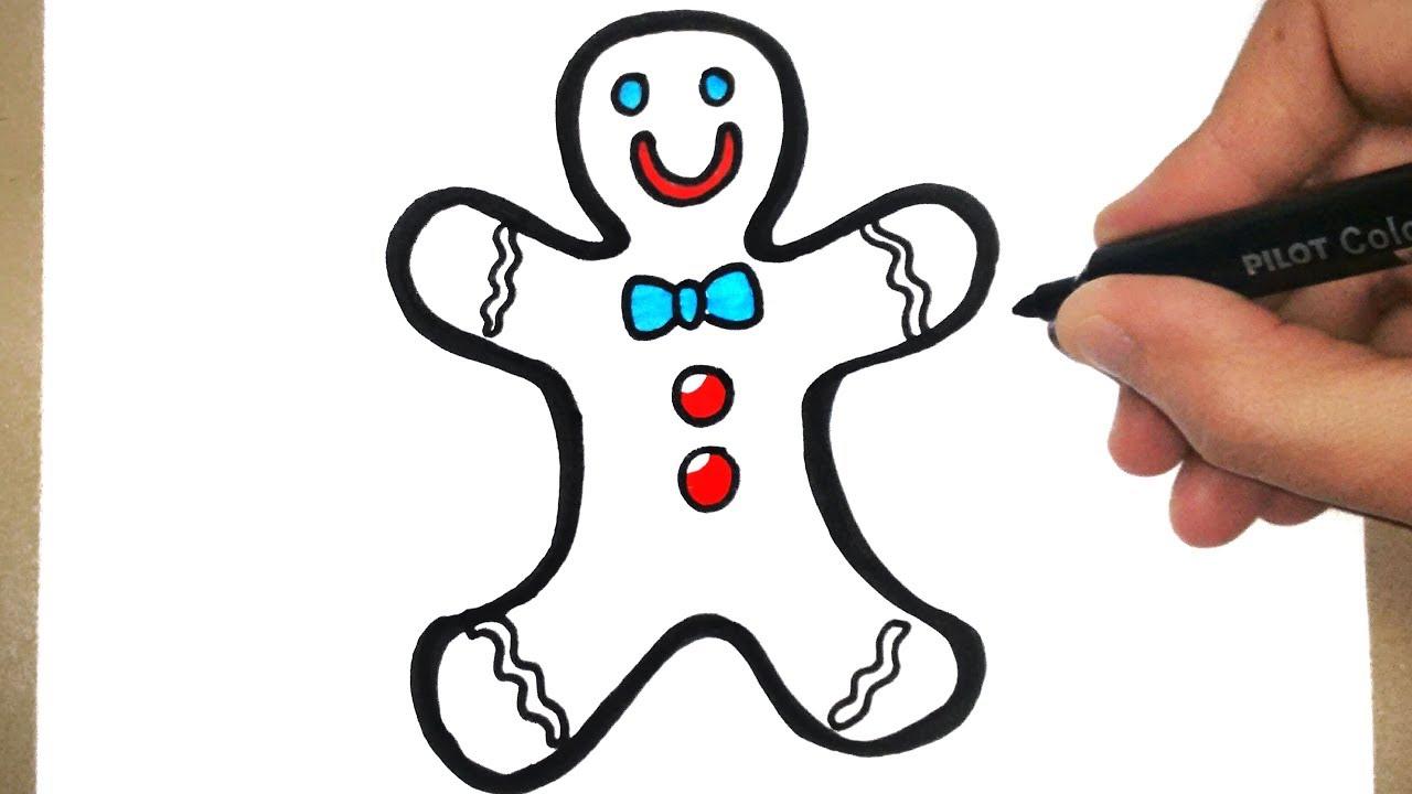Como Desenhar Um Biscoito De Natal Youtube