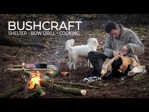 SOLO BUSHCRAFT - Primitive Skills, Bow Drill, Woodcraft, Campfire Cooking And Nature Photography