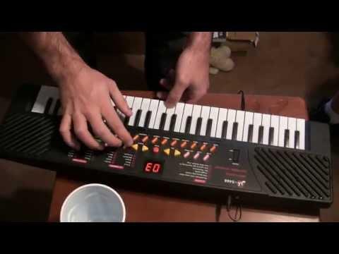 Toy Electronic Keyboard Destruction