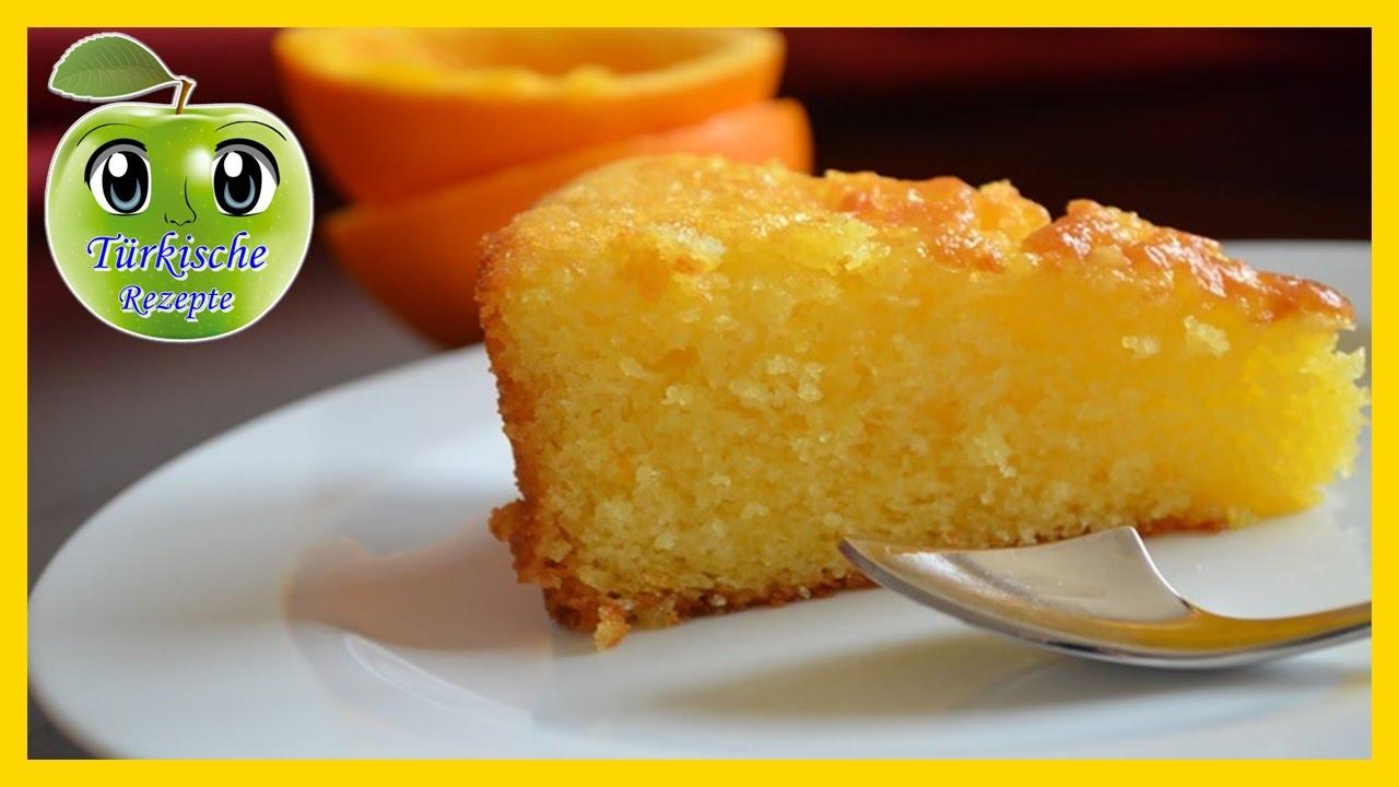 Orangenkuchen Mit Frischen Orangensirup Youtube