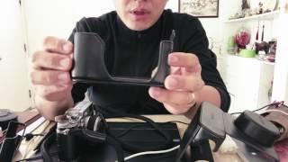Fujifilm XA7 X-A7 Leather Case - Leather Half Case Fuji XA7 Fujinon
