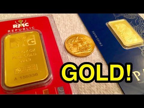 Gold Ounce, Sovereign & Tola Bar!