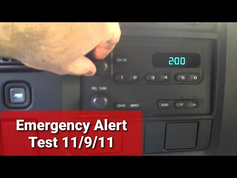 EAS Emergency Alert Service actual FM radio broadc