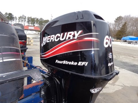 6M4F83 Used 2005 Mercury 60ELPT Bigfoot EFI 60HP 4 Stroke Outboard Boat Motor 20 Shaft