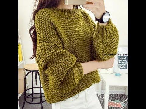 Вязание спицами пуловеров для женщин
