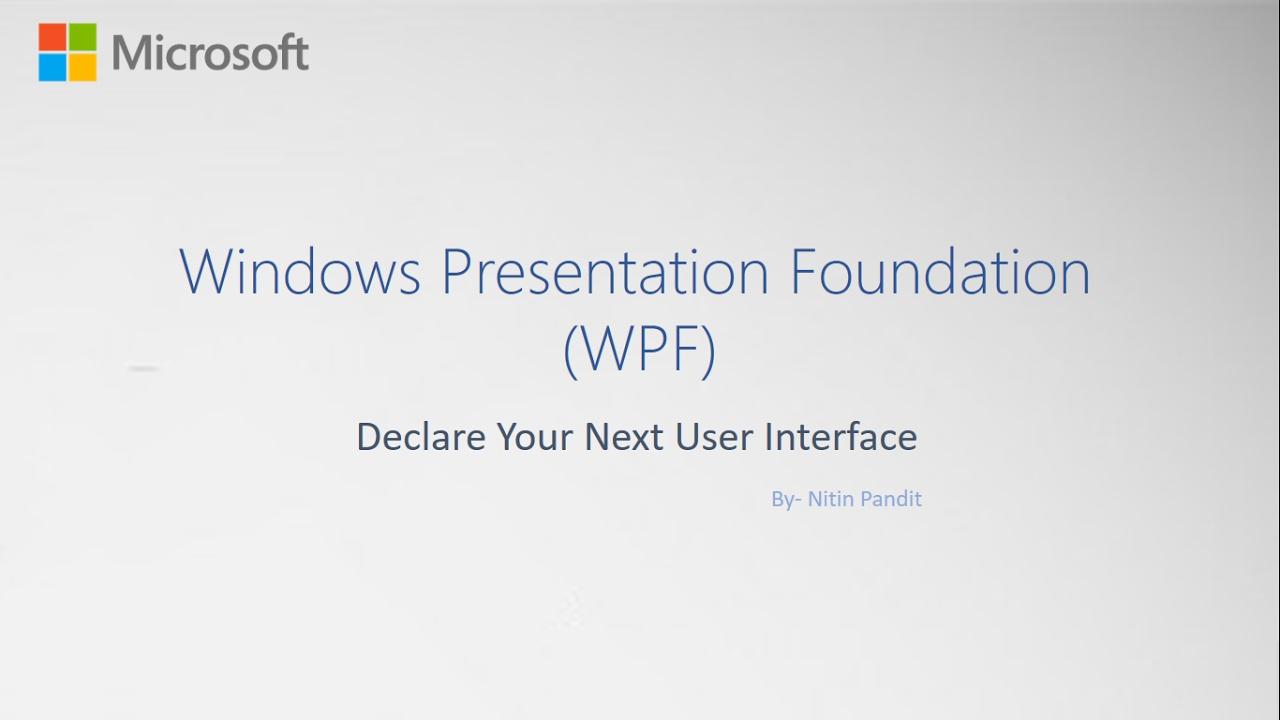 Windows Form Vs WPF Windows