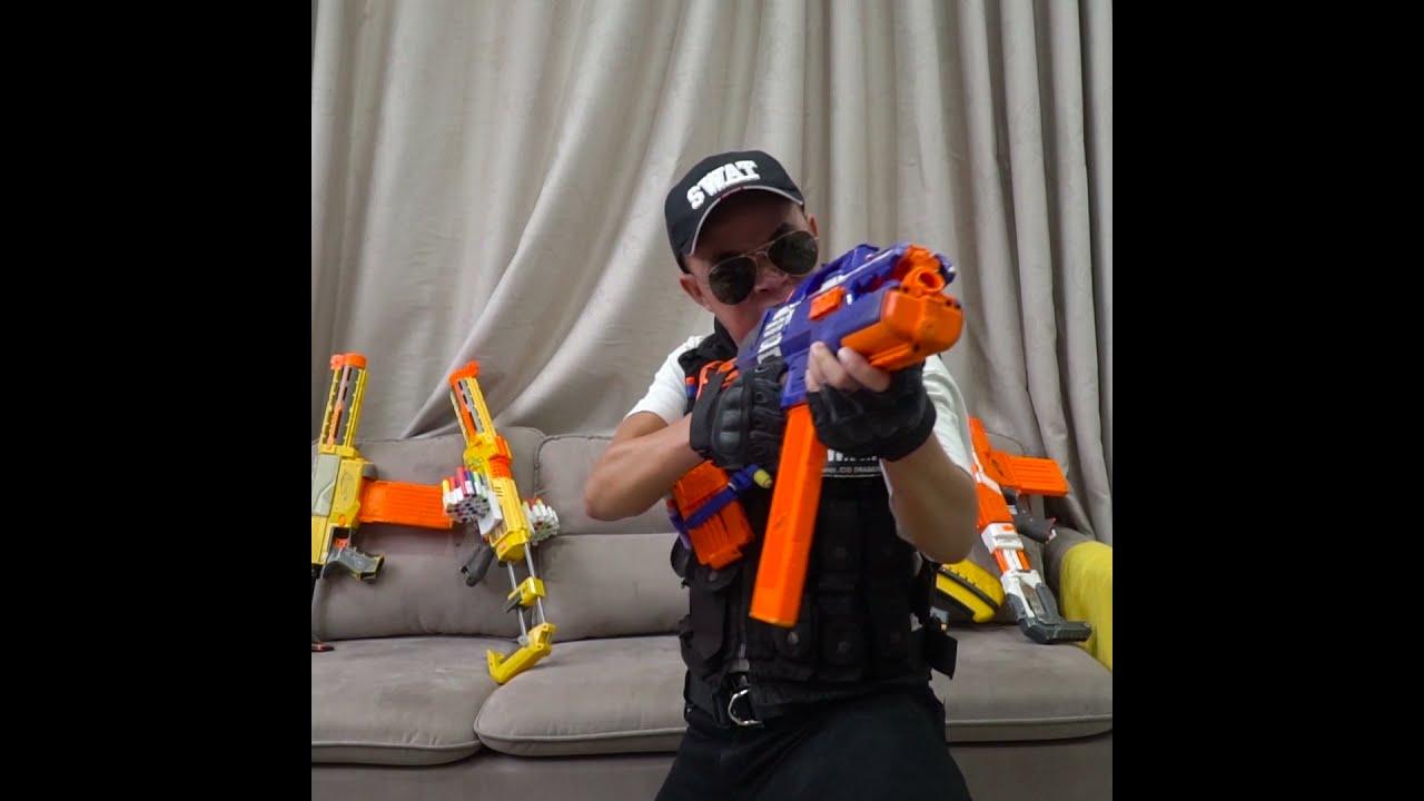 Alpha Nerf Guns Battle #02 #Shorts