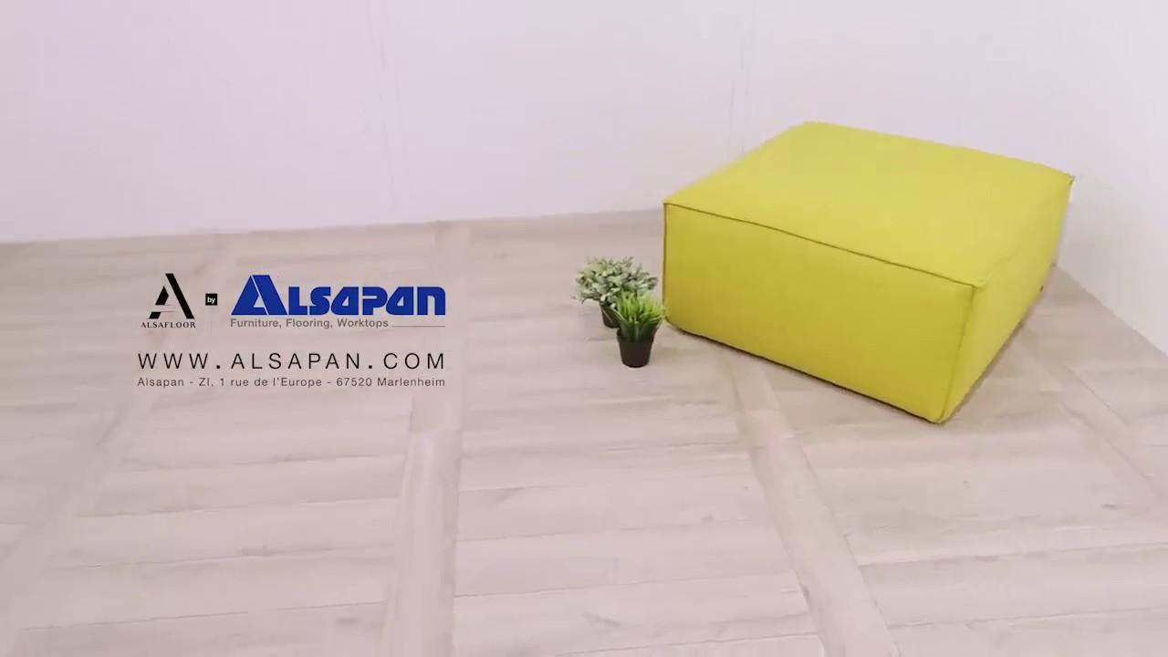 poser un sol stratifi alsafloor en chelle pour un effet parquet alsapan youtube. Black Bedroom Furniture Sets. Home Design Ideas