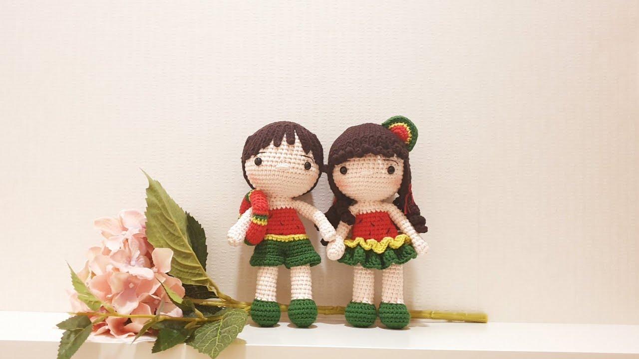[코바늘인형] 수박남매 은하와 은수 (Part2) watermelon crochet doll