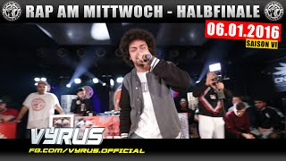 RAP AM MITTWOCH BERLIN: 06.01.16 BattleMania Halbfinale feat. VYRUS uvm. (3/4) GERMAN BATTLE