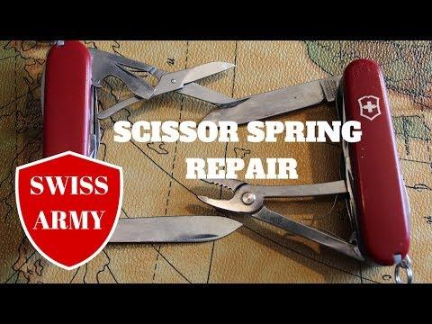 How to Fix Scissor Spring on a Swiss Army Knife (SAK)