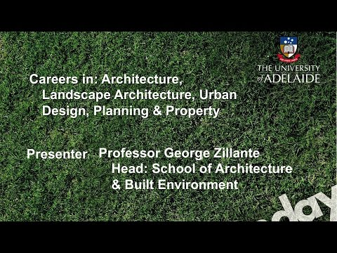 Architecture Talk - Open Day 2014 - The University of Adelaide
