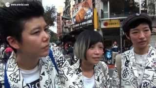 Interviews with anti-nuke protesters in Taipei