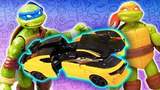 Сборник видео про игрушки. Черепашки Ниндзя в автомастерской! Робот Бамблби и машинки в ремонте!