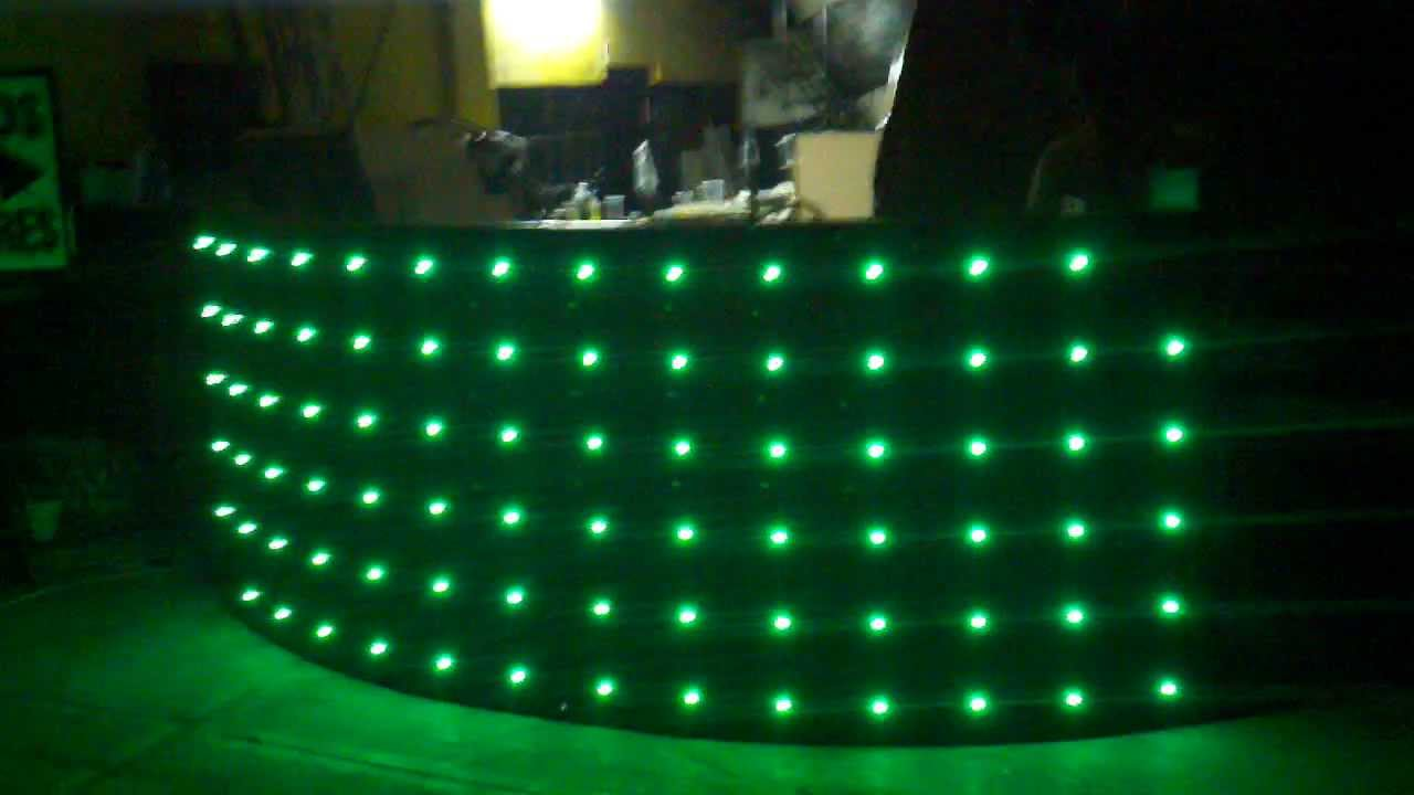 Cabina Dj Led Sencilla Youtube