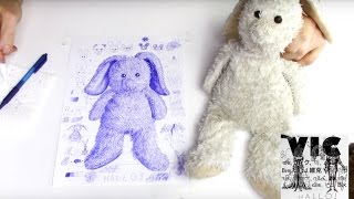 How to draw your favourite stuffed animal part II/ Fluffy bunny kids illustration instruction
