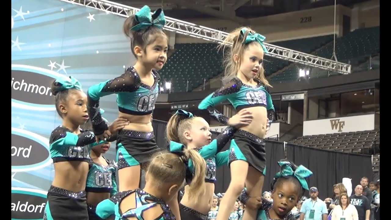 b3d40375255 Cheer Extreme Raleigh Tiny Turtles 2015 Showcase - YouTube