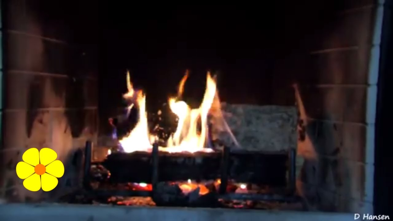 REAL Fire Meditation Winter Fireplace Wood Crackling Sounds  Relaxing White Noise Sounds of