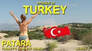BEST BEACH IN TURKEY // PATARA // Hitchhiking in Turkey // EP 10