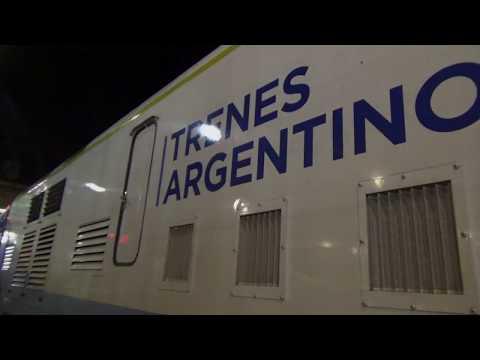 Viaje en Tren RE Inaugural Mar del Plata 4 Julio 2017