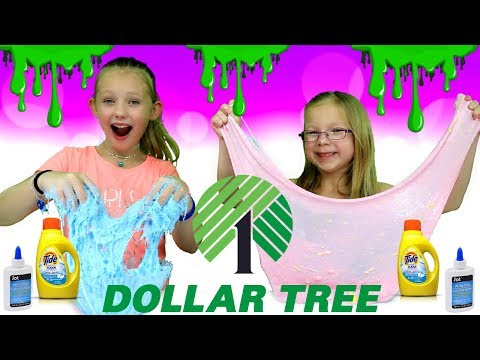 DOLLAR STORE SLIME CHALLENGE!!! Making Slime Using Dollar Tree Ingredients!