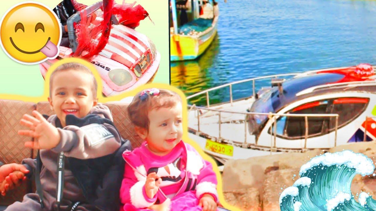 عشنا يوم كامل جولة في السفينة داخل البحر 😍😎 !! أسامة وروز