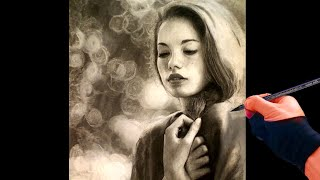 Portrait Drawing of a Girl - the lights we hold dear Art Drawing Video