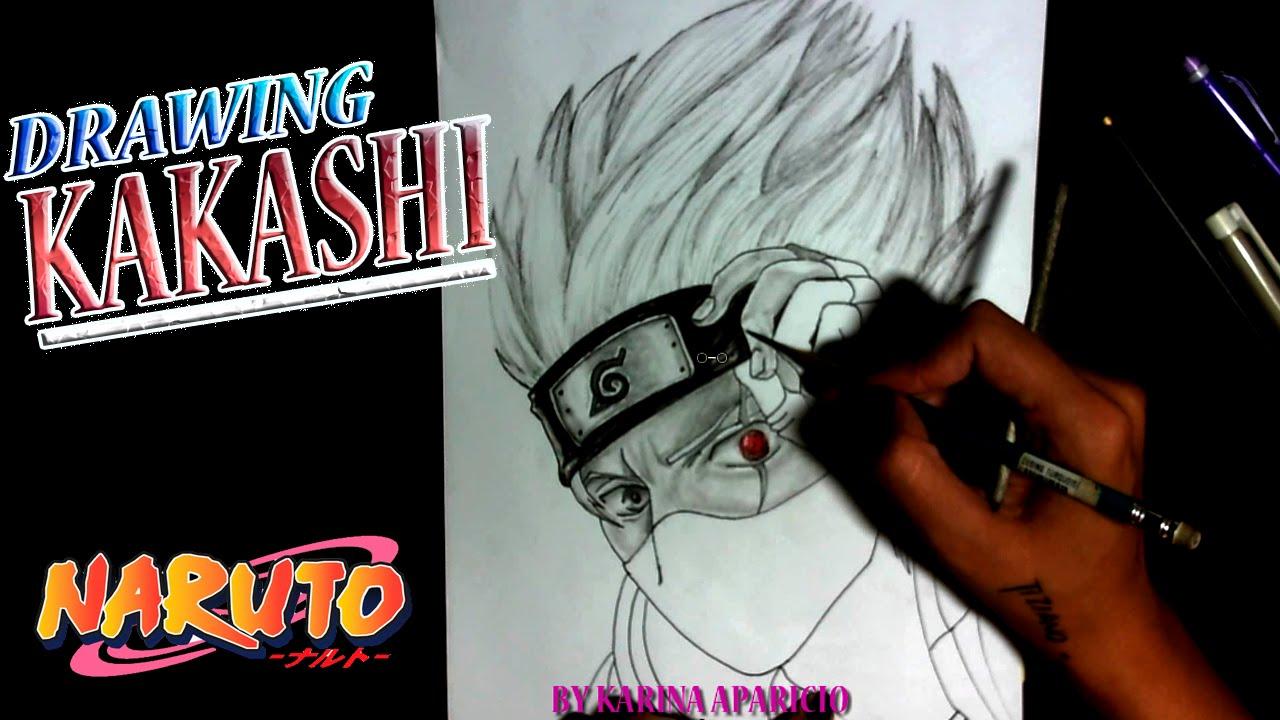 Como Dibujar A Kakashi Sensei Sharingan How To Draw Kakashi Sensei Sharingan Speed Draw