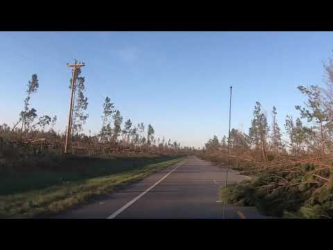 Hurricane Michael Aftermath Kinard to Clarksville Drive