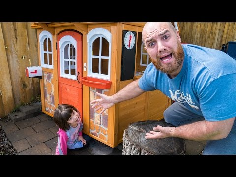 Twin 5 Year Old Crushed by Play House!! Dad Freak Out! | Twin Family Fun Vlogs