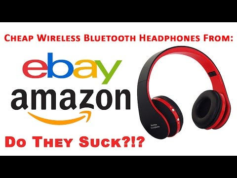Do they Suck?!? Cheap Wireless Bluetooth Headphones From eBay Amazon, Unboxing & Review