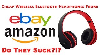 Video Do they Suck?!? Cheap Wireless Bluetooth Headphones From eBay Amazon, Unboxing & Review download MP3, 3GP, MP4, WEBM, AVI, FLV Juli 2018